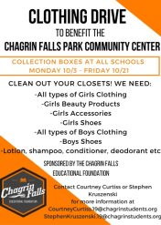 Student Board Clothing Drive